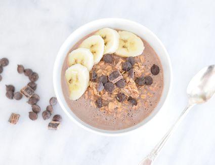 Chocolate covered banana overnight oats