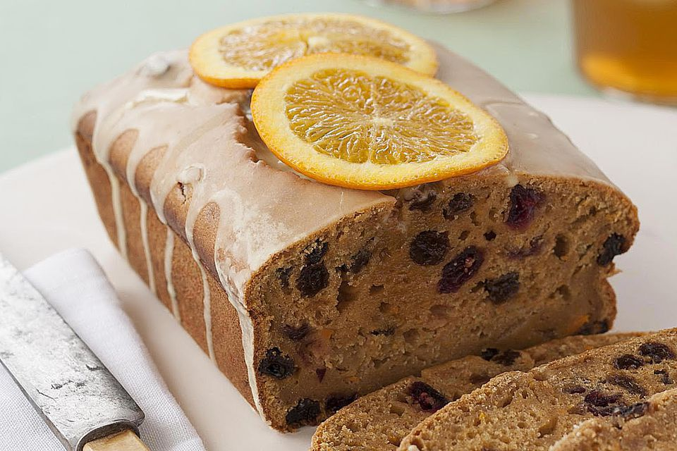 Coffee Cake with orange glaze
