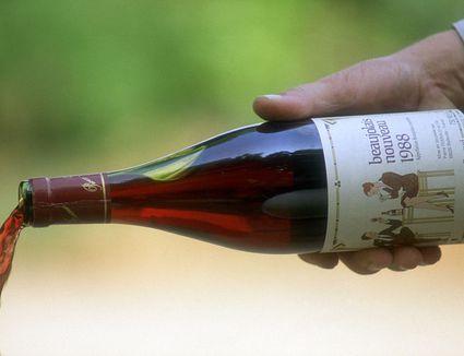 bottle of beaujolais nouveau