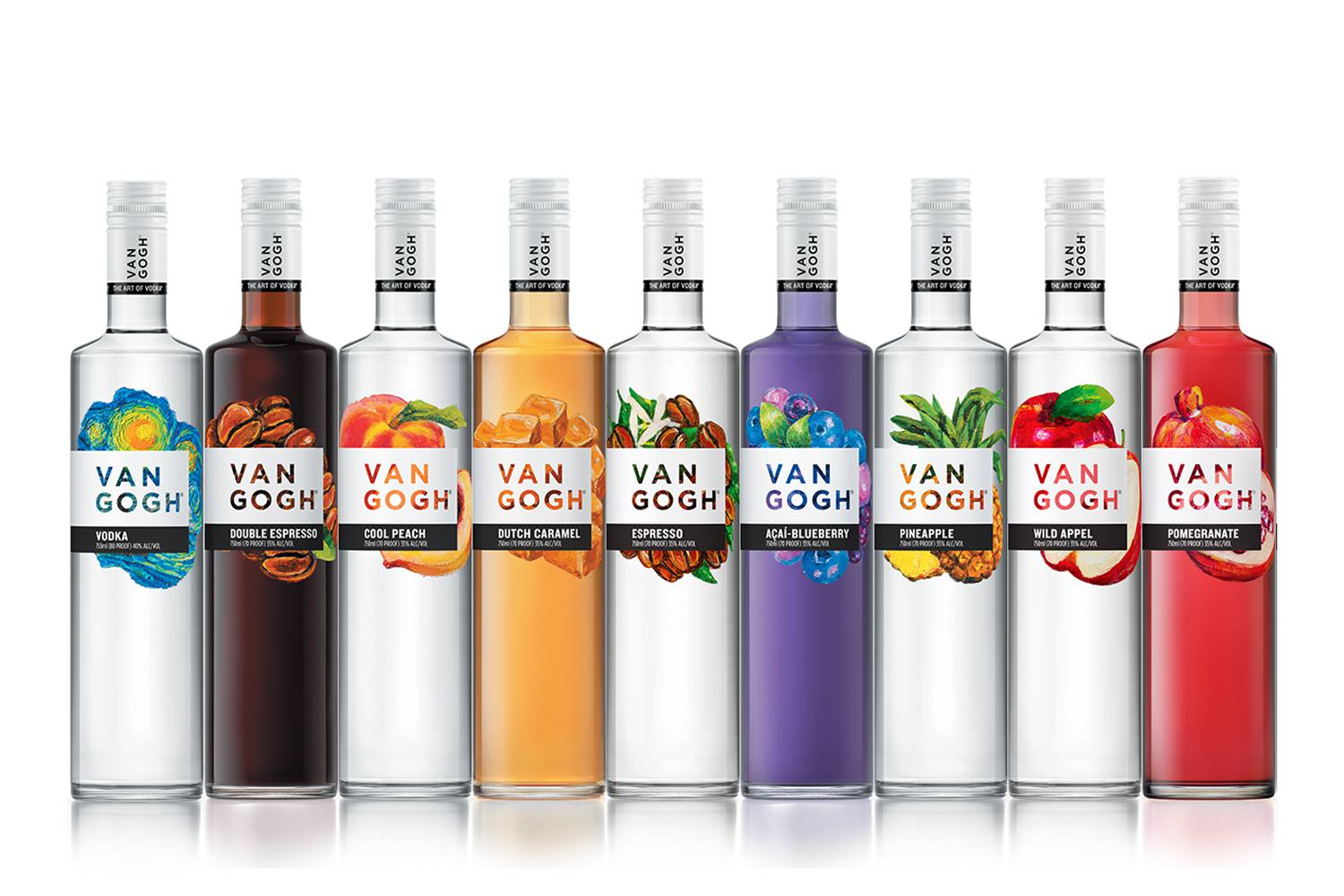 A Portion of Van Gogh Vodka's Portfolio