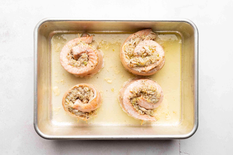 Polish Crab-Stuffed Salmon Pinwheels