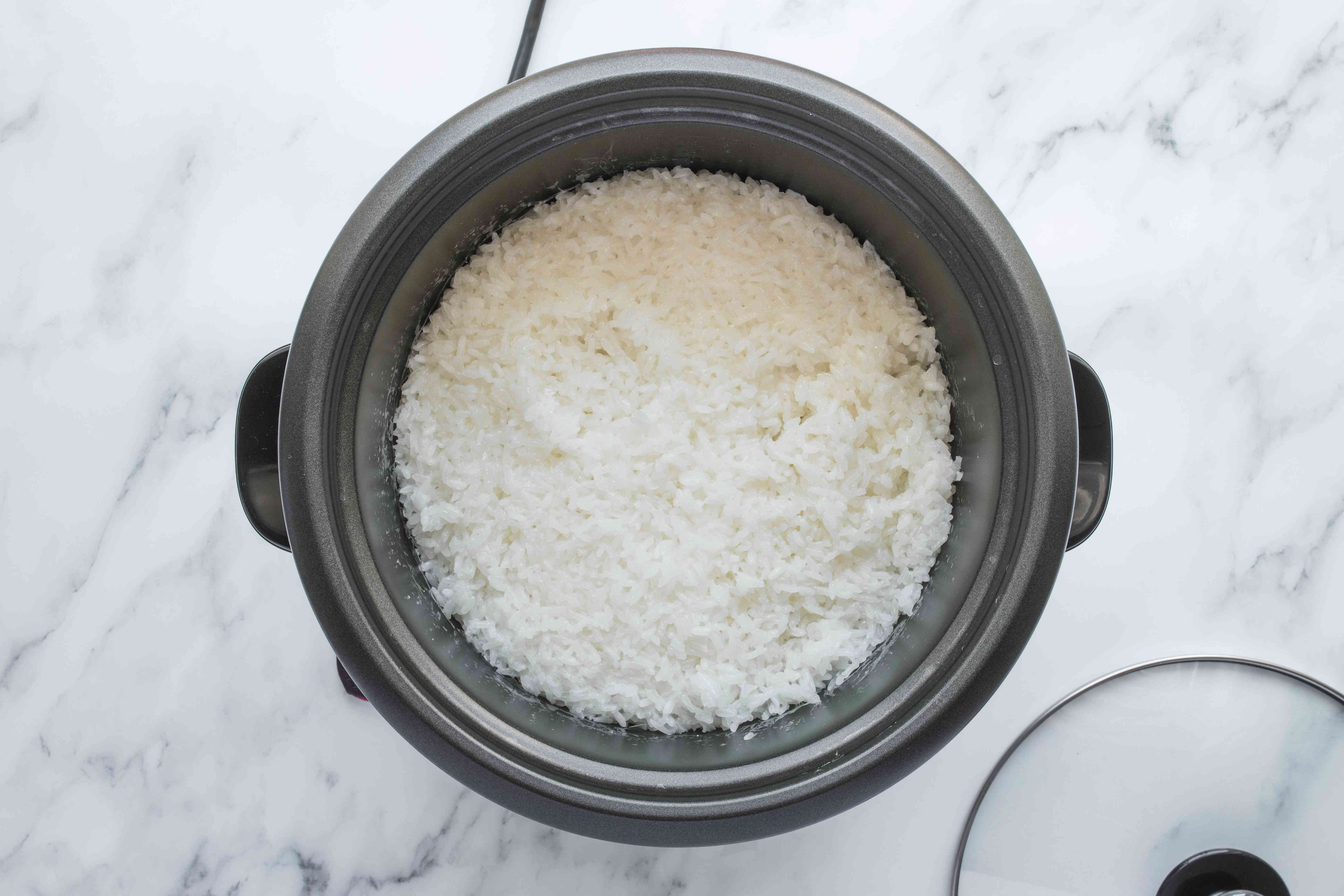 Let rice steam