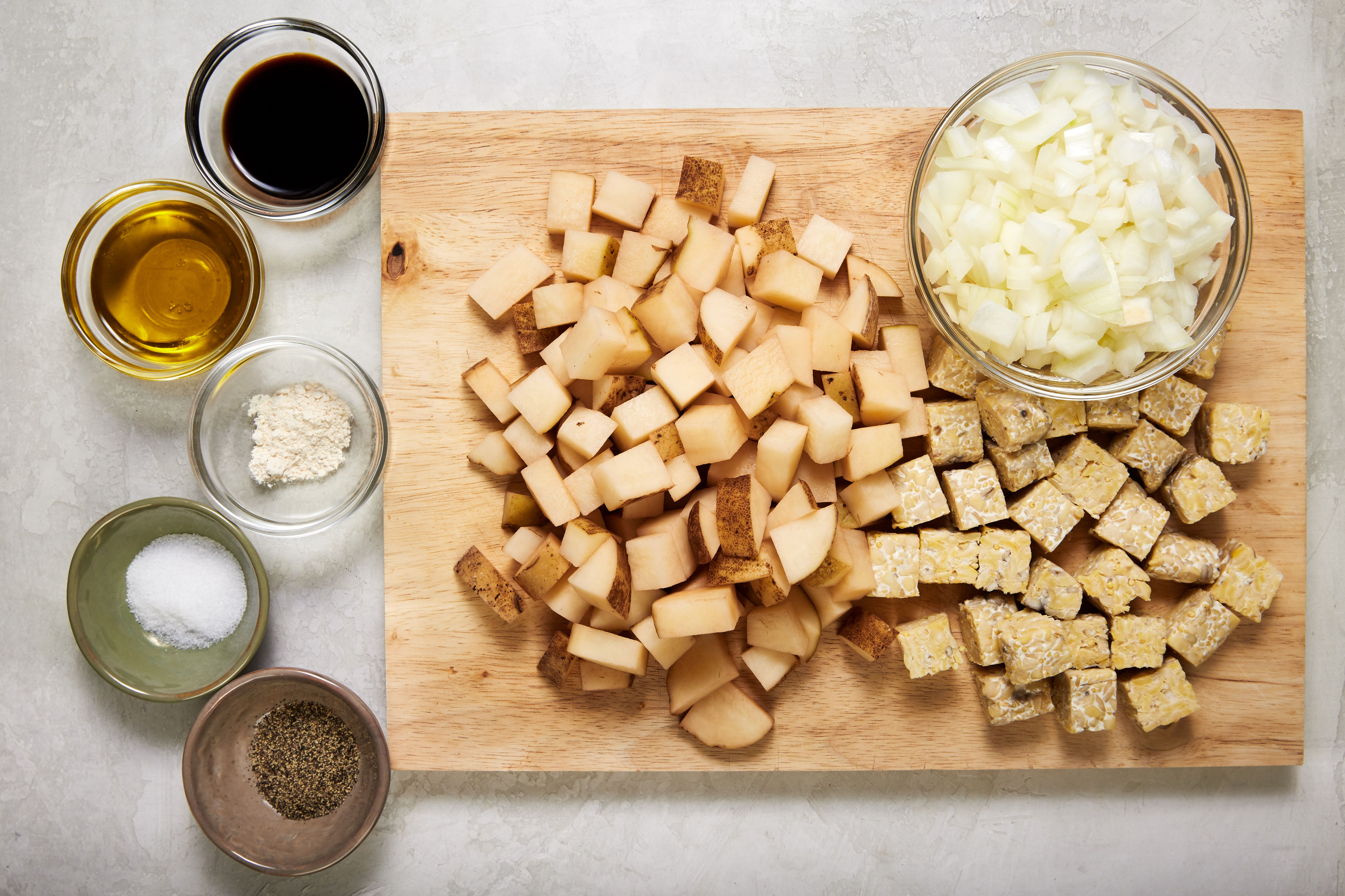 Ingredients for breakfast tempeh