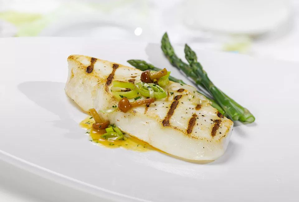 Seared Halibut With Chanterelle Mushrooms