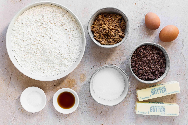 Chocolate Chip Icebox Cookies ingredients