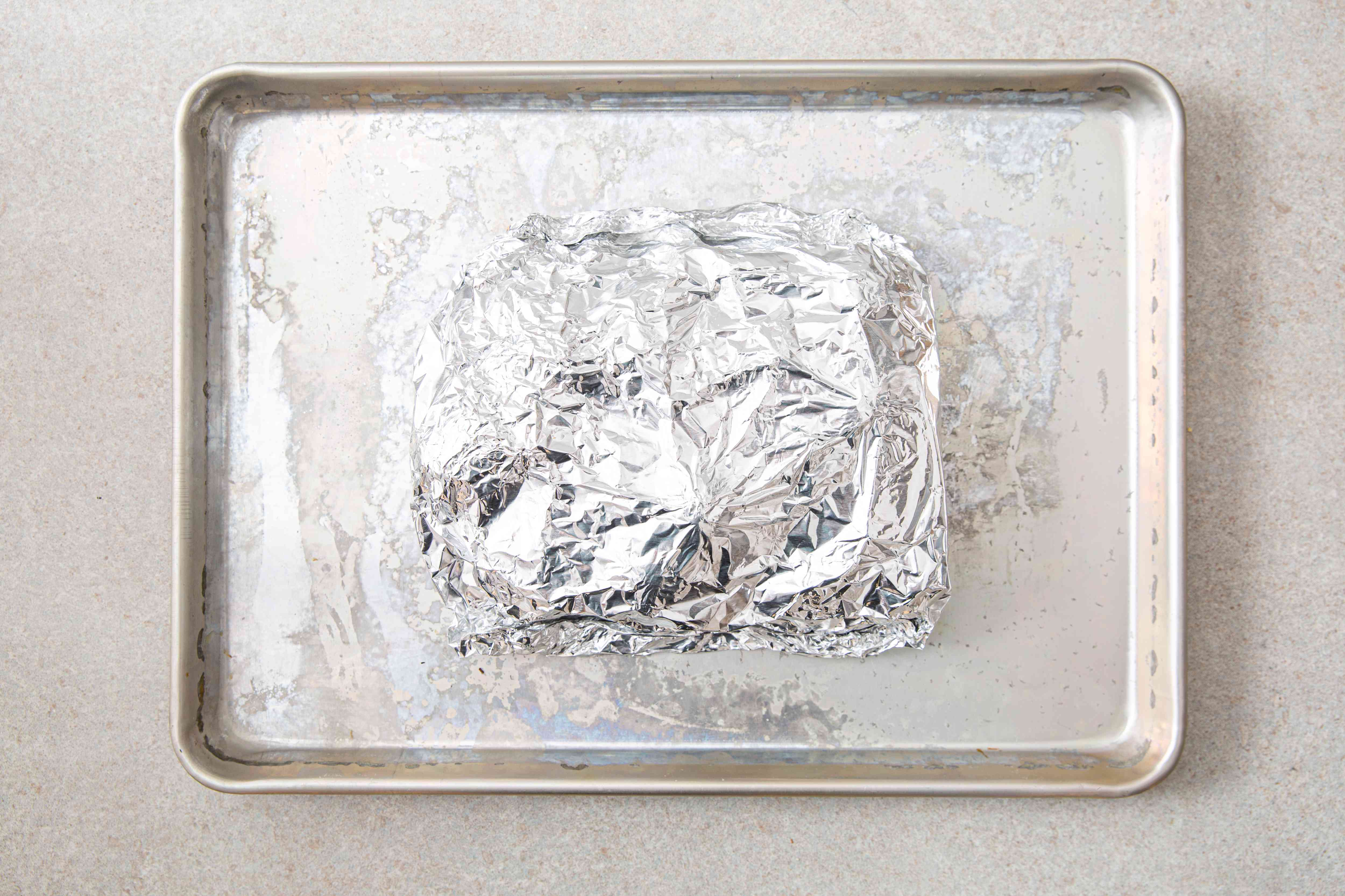 Place package on shallow baking pan