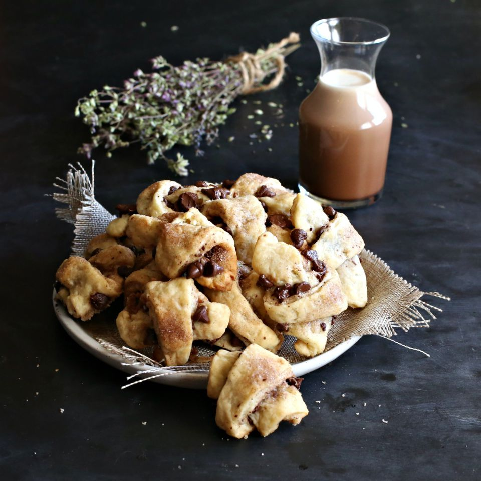 Chocolate Spiced Rugelach Cookies