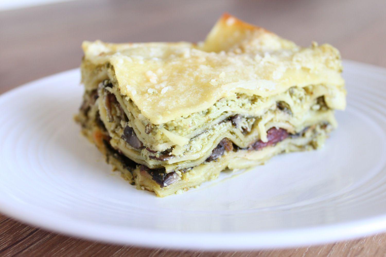 Ricotta-Pesto-Lasagna