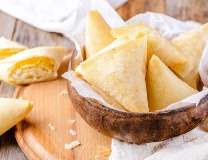 Phyllo cheese triangle tiropitas recipe