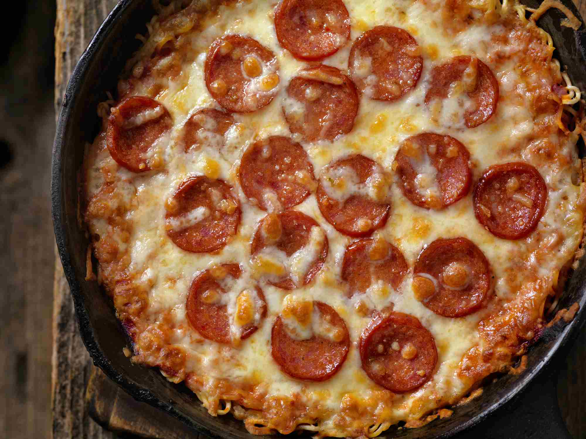 Ramen Noodle Crust Pepperoni Pizza