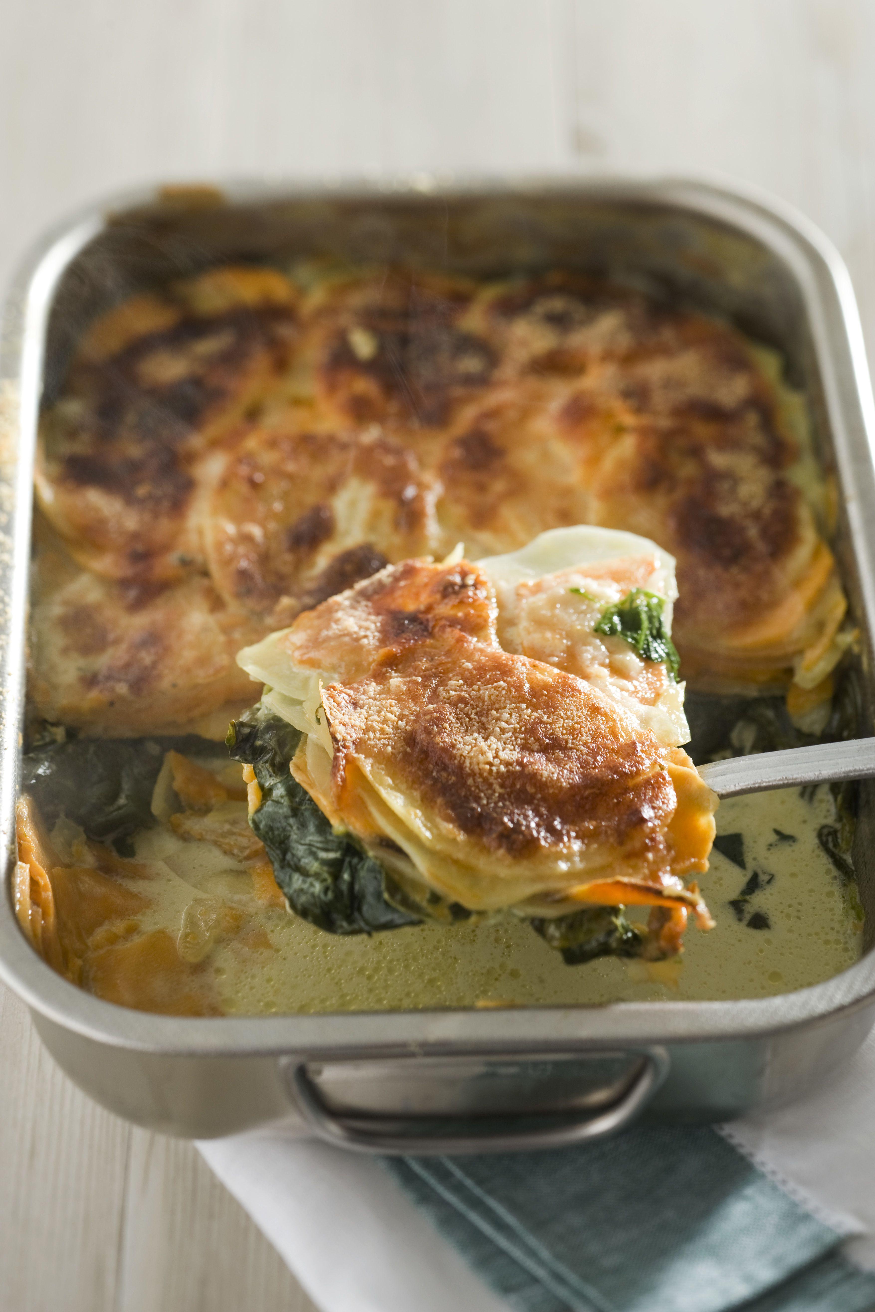 Classic spinach gratin