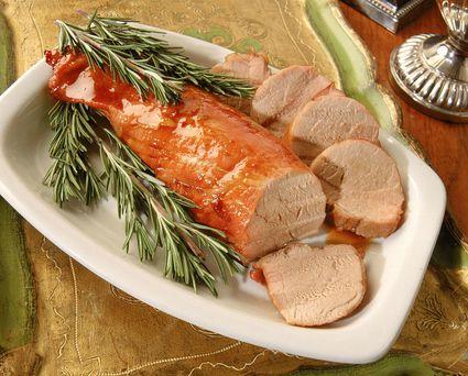 Mustard-marinated pork tenderloin