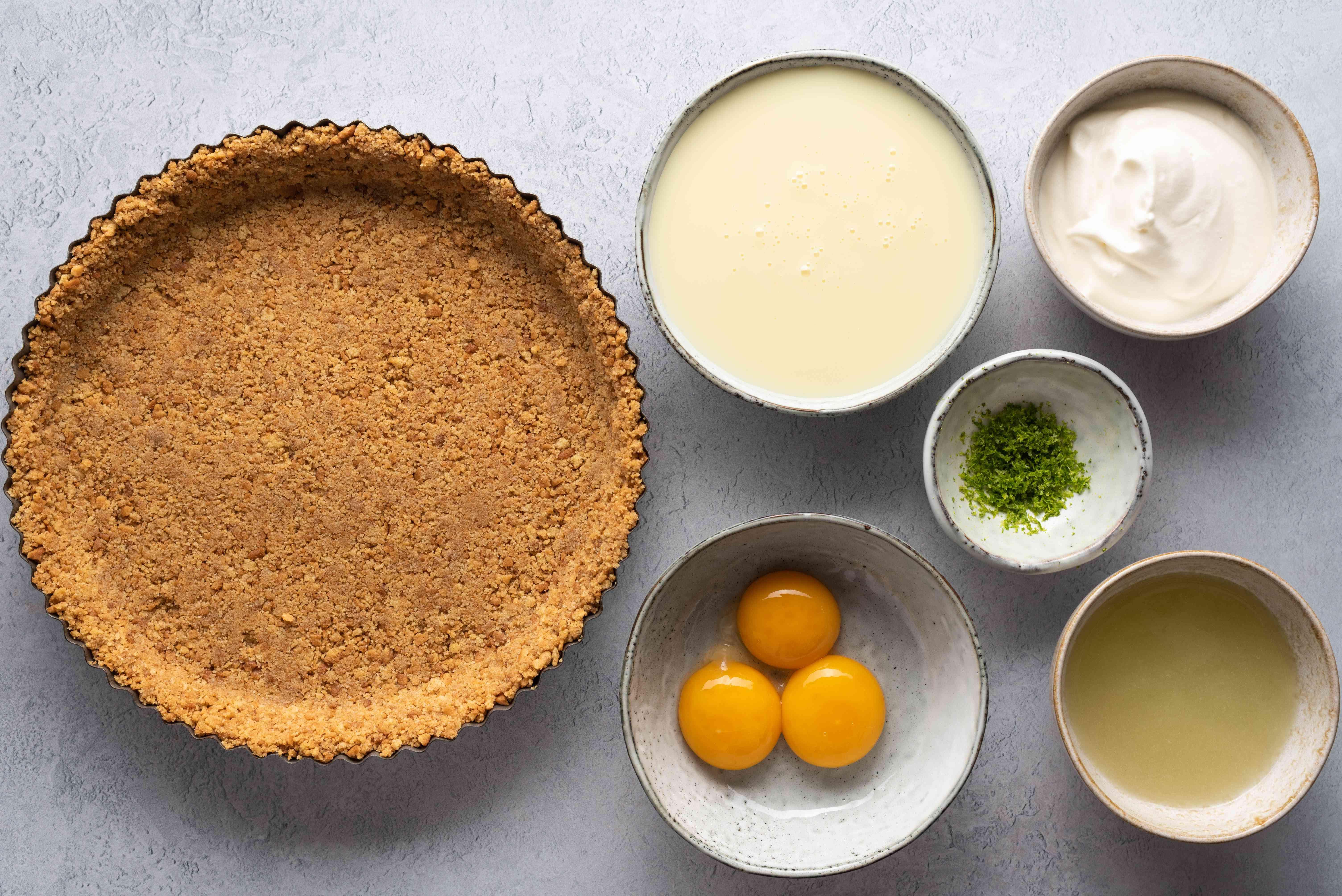 Easy Key Lime Pie ingredients