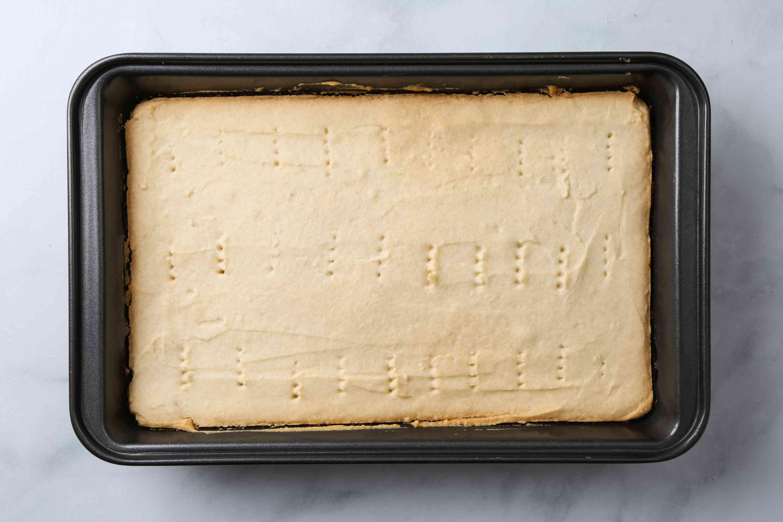 batter in a baking dish