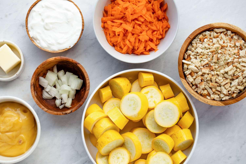 Summer Squash Casserole ingredients
