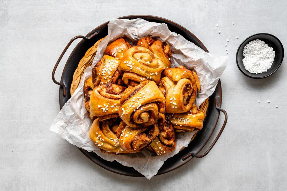 Finnish Cinnamon Pastries (Korvapuusti)