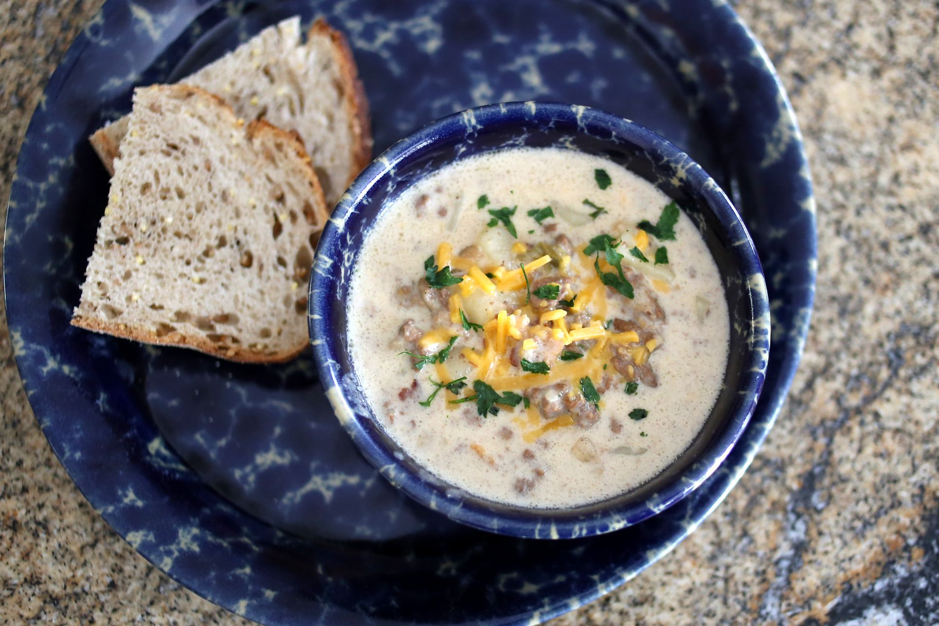 Cheeseburger Chowder Recipe for Stovetop or Crock Pot