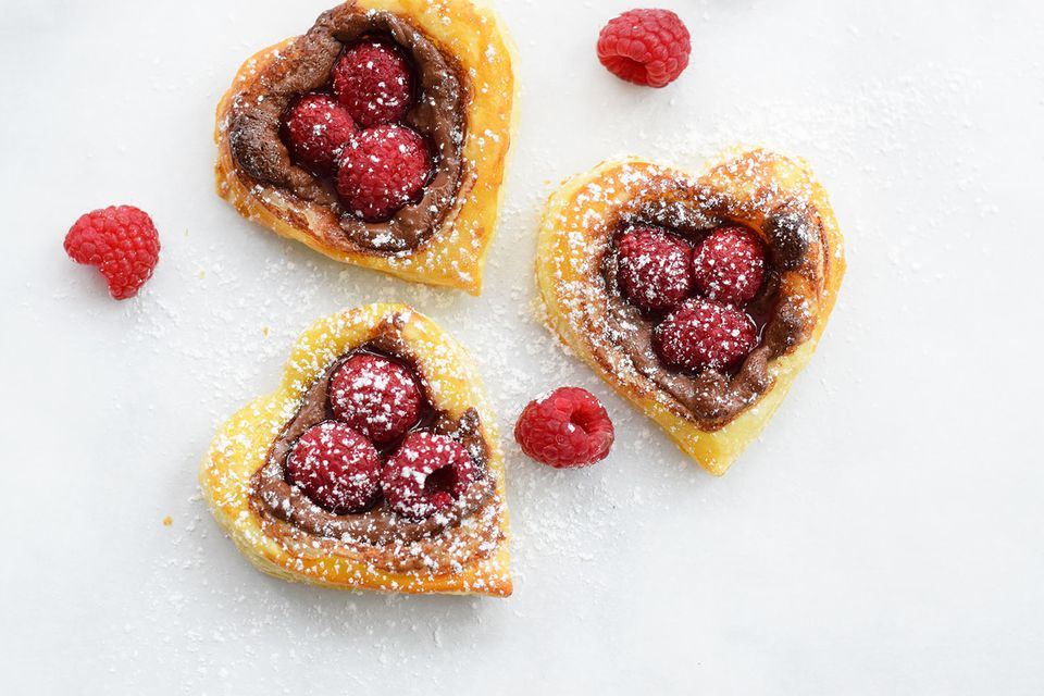 Raspberry Nutella Hearts