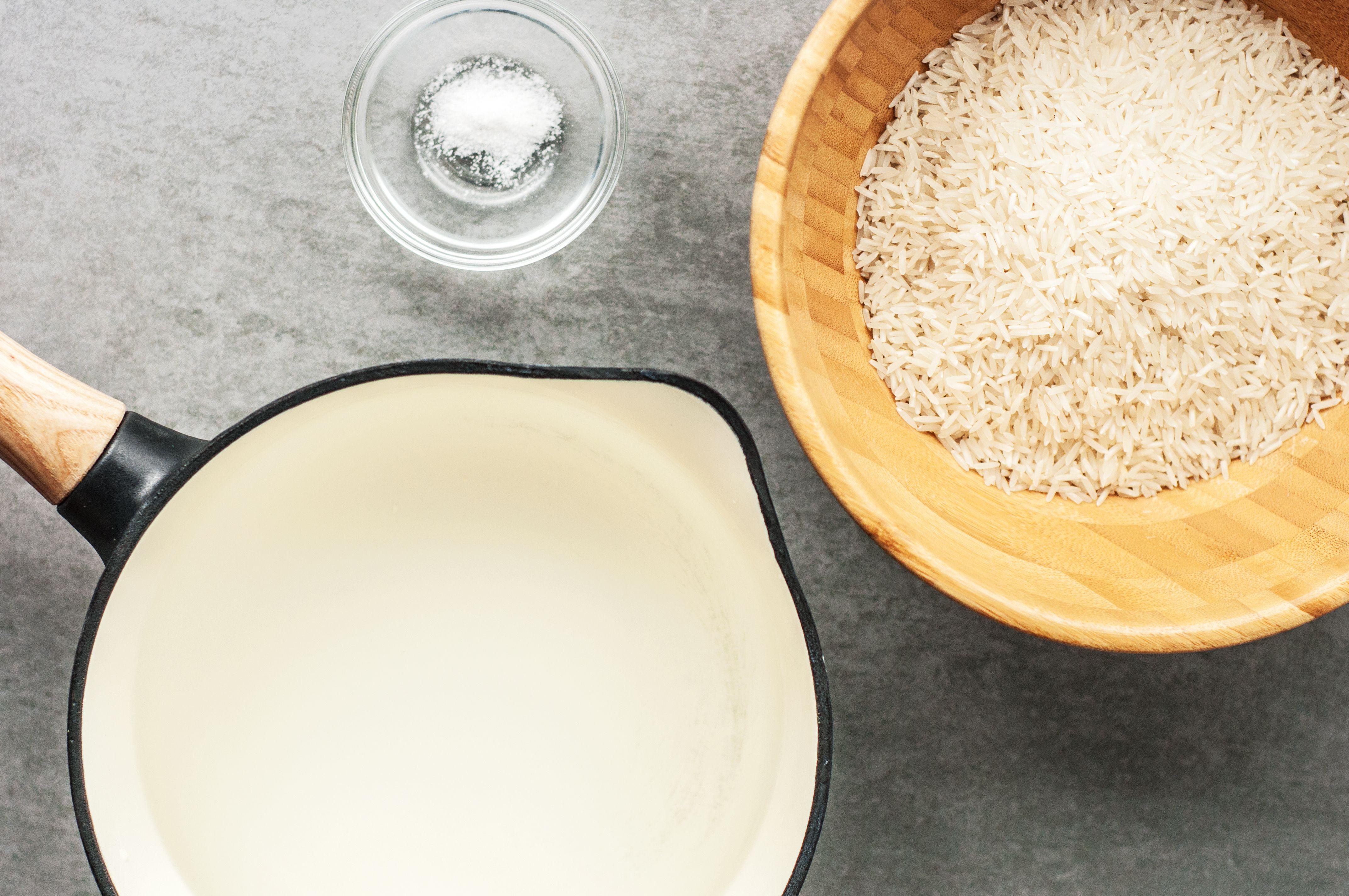 Ingredients for basic white rice