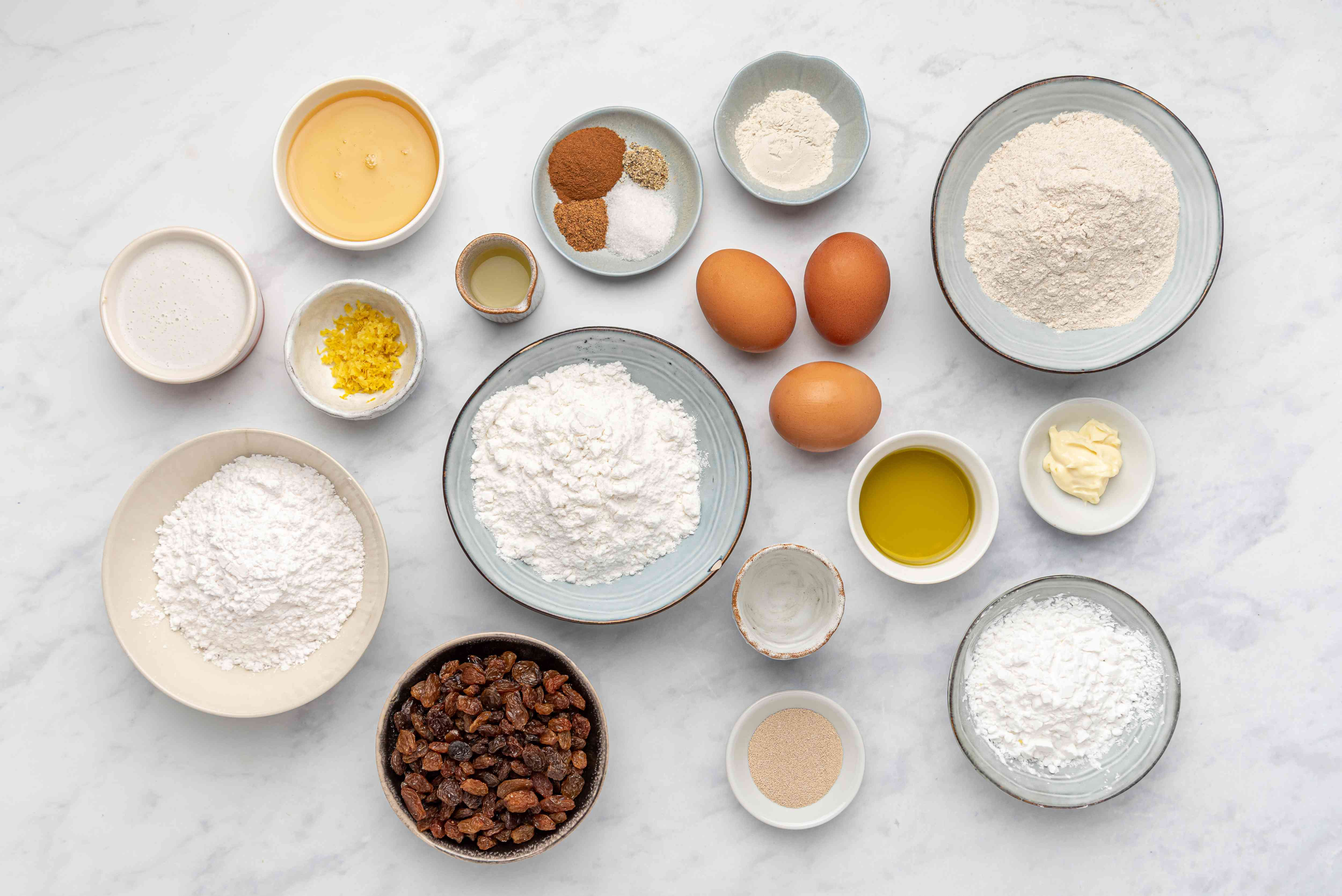 Gluten- and Dairy-Free Hot Cross Buns ingredients