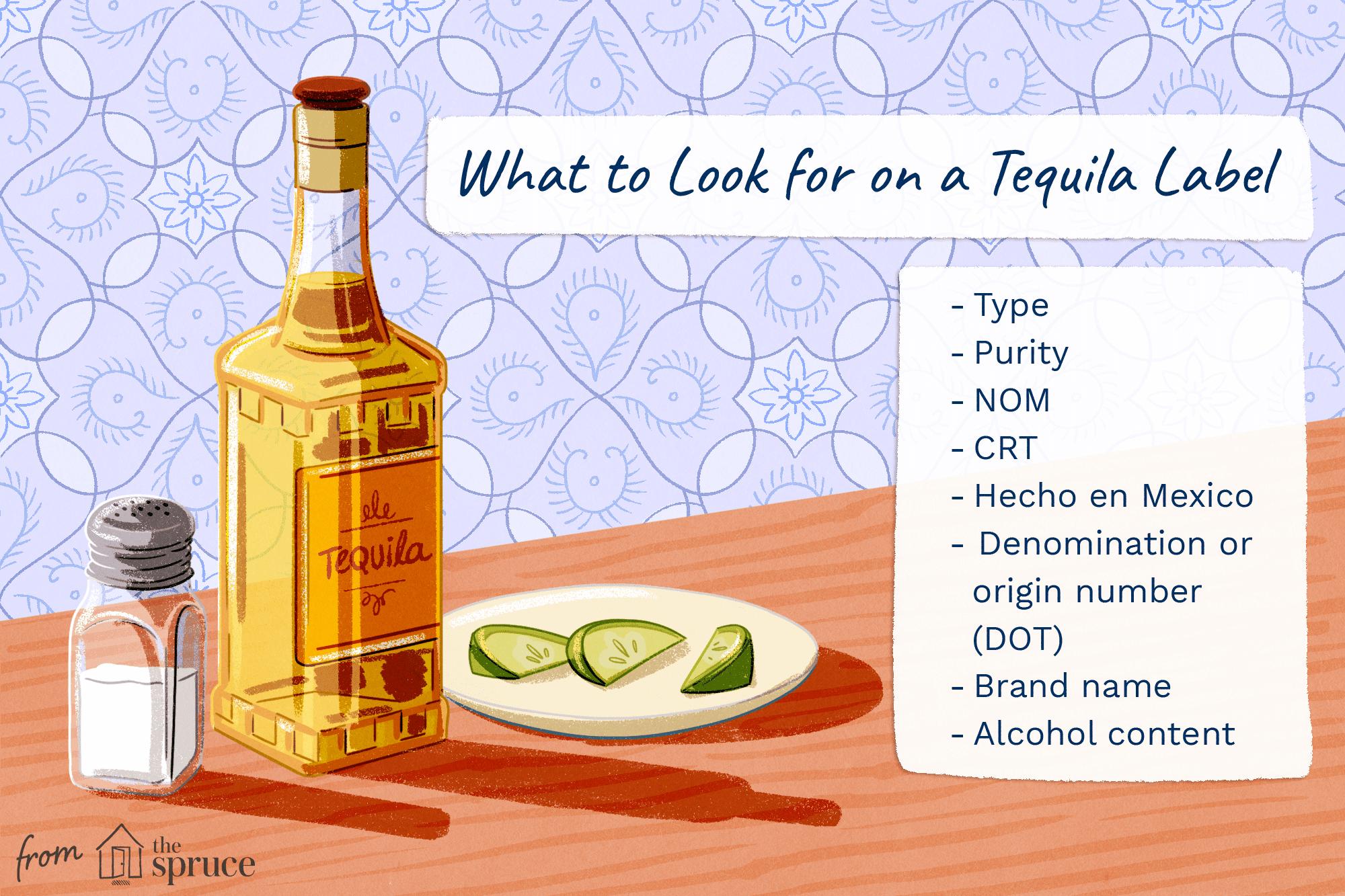 Tequila Label Illustration