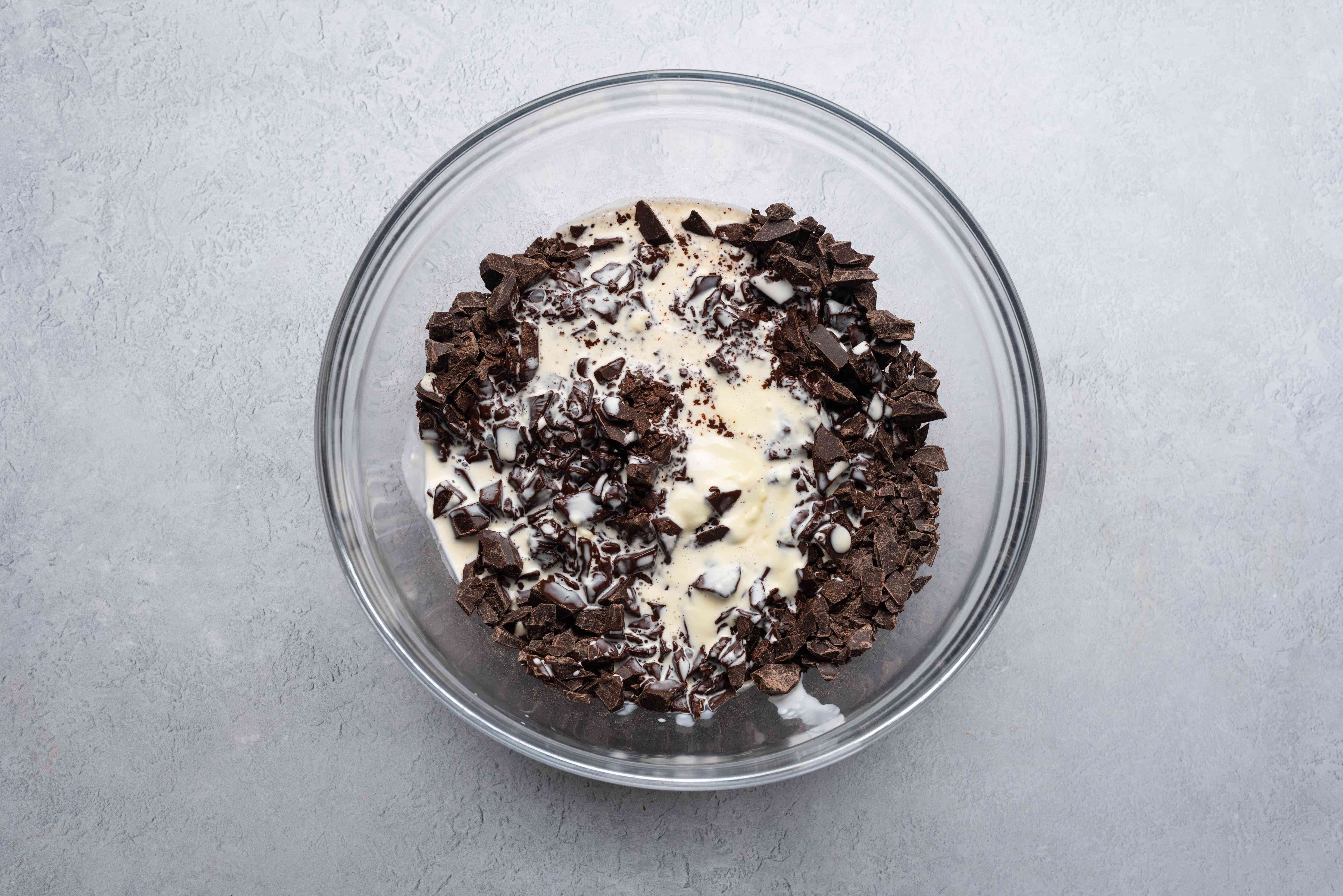 cream and chocolate in a bowl