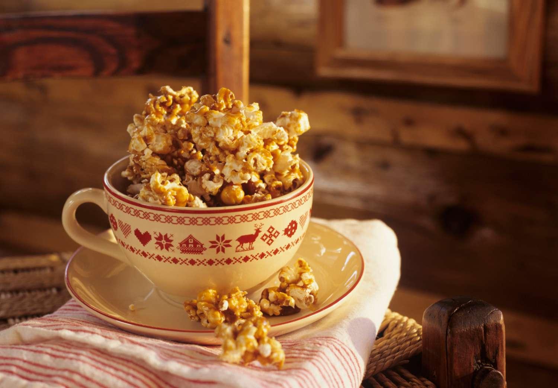 Caramel Popcorn Baked