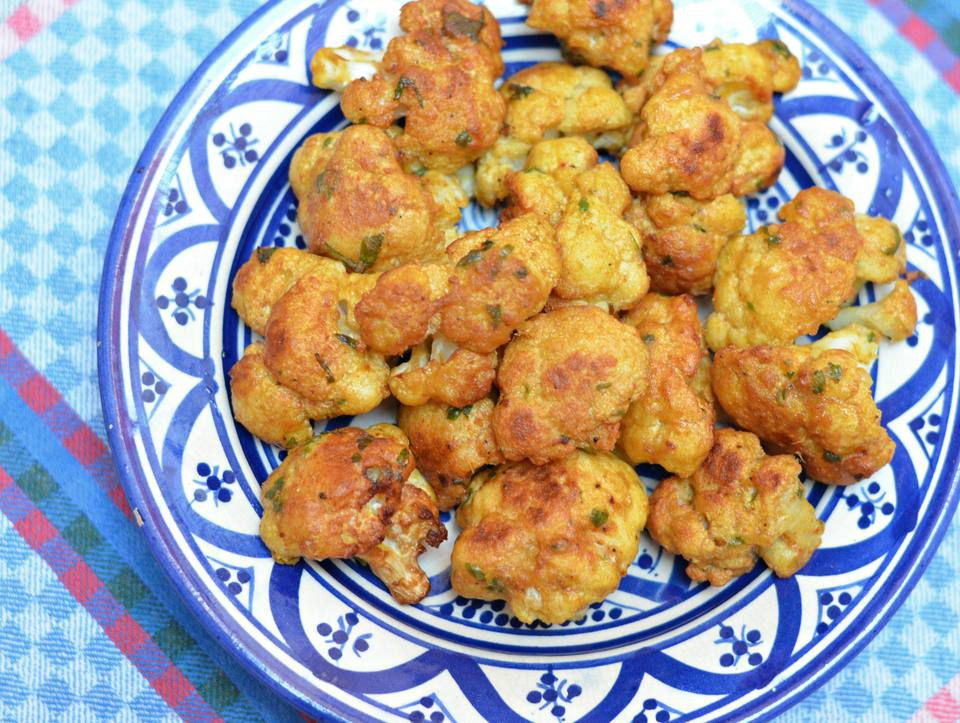 Moroccan Batter-Dipped Fried Cauliflower