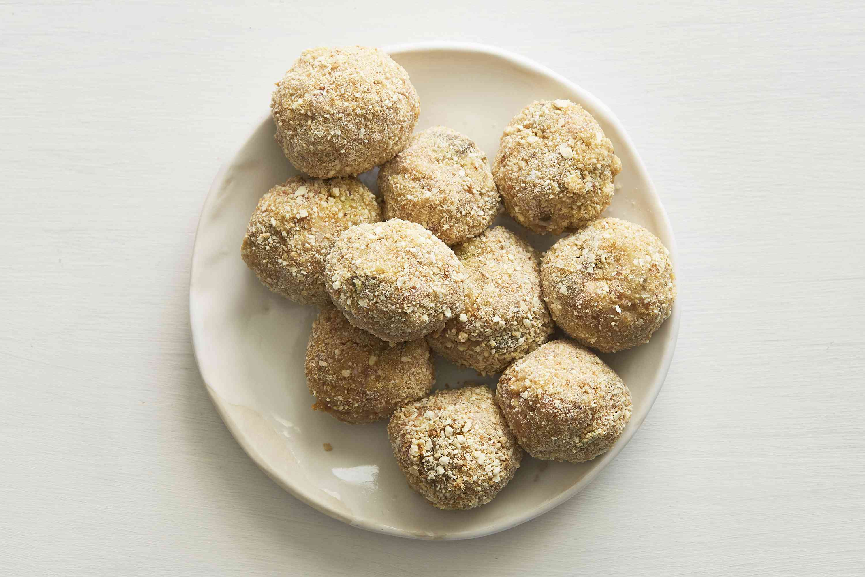boudin balls covered in breadcrumbs