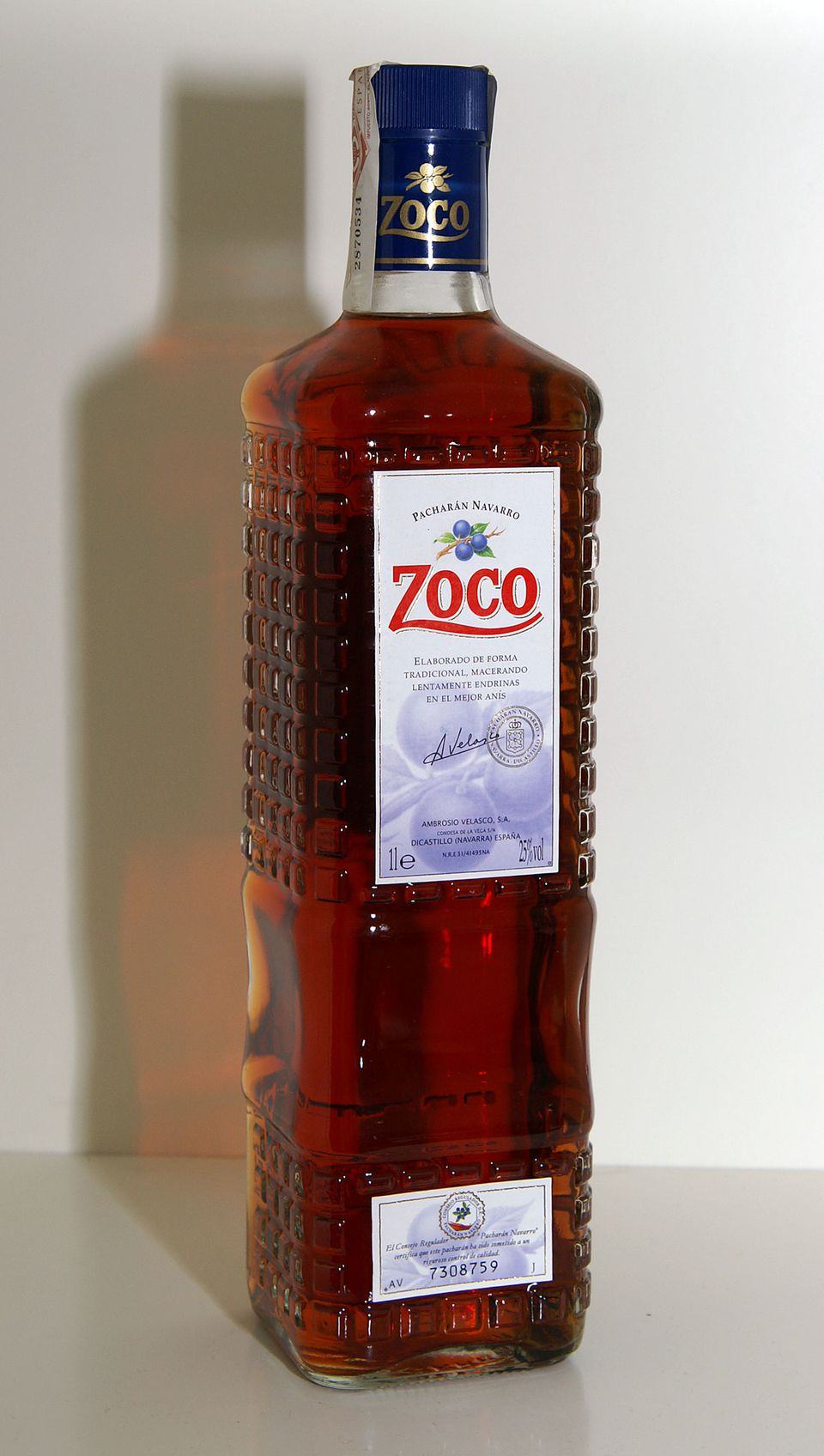 Zoco brand of Pacharan