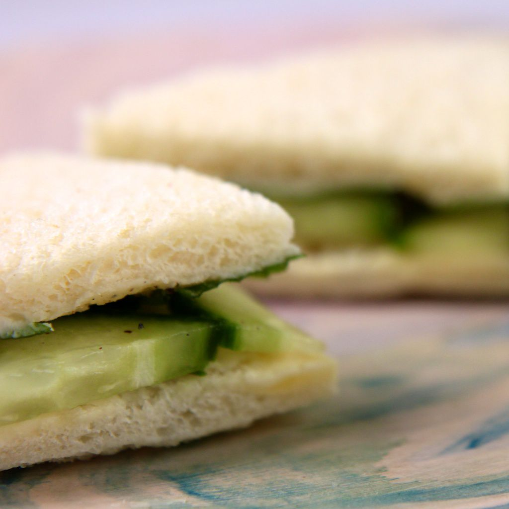 An image of Cucumber Mint Finger Sandwiches.