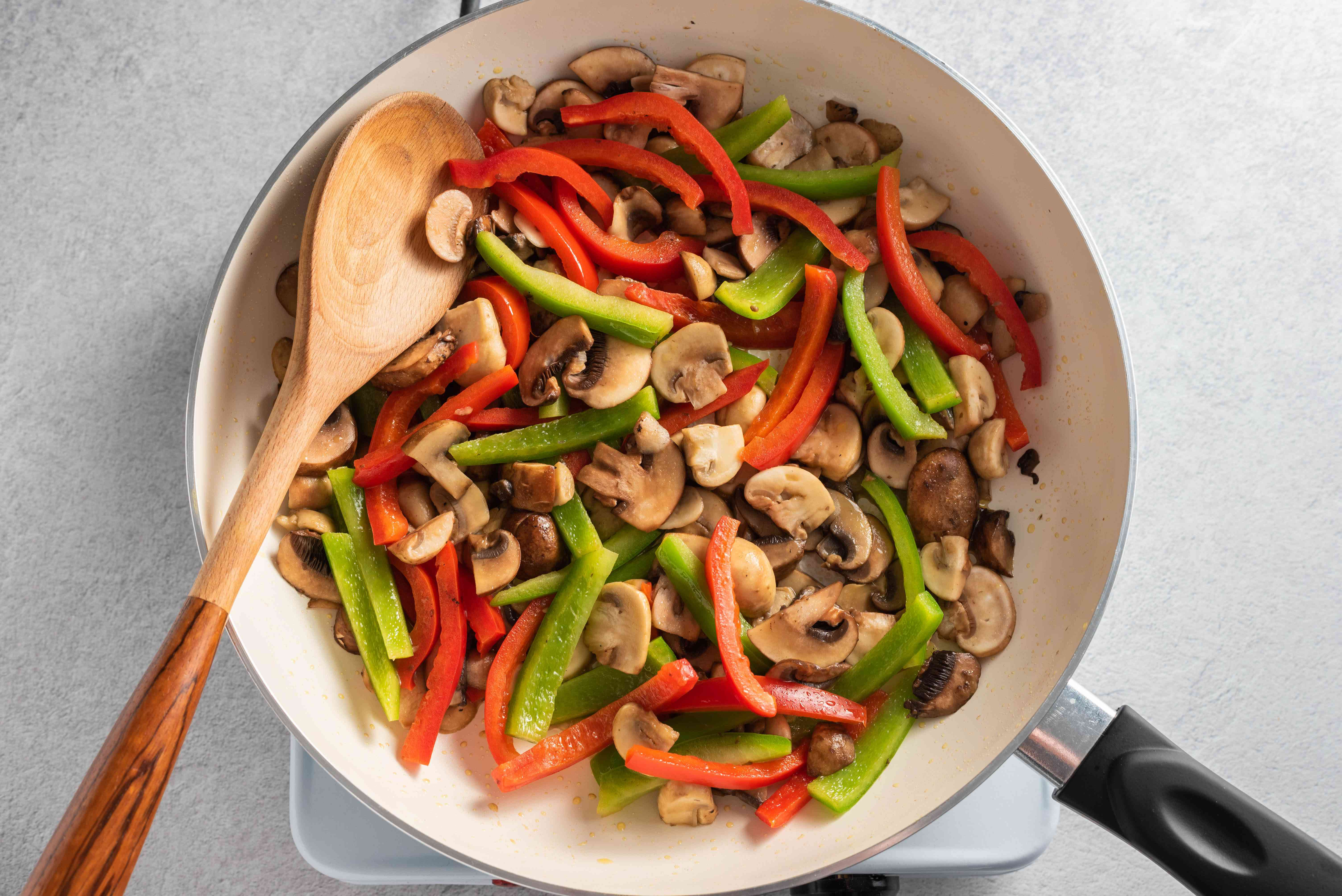 Peppers and mushrooms