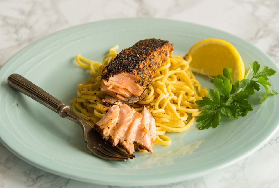 Simple blackened salmon