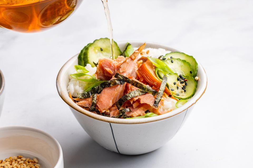 Salmon Ochazuke (Rice With Tea)