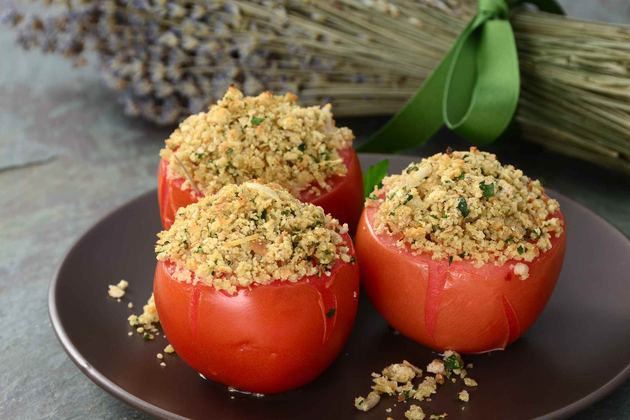 Parmesan and Panko Stuffed Tomatoes