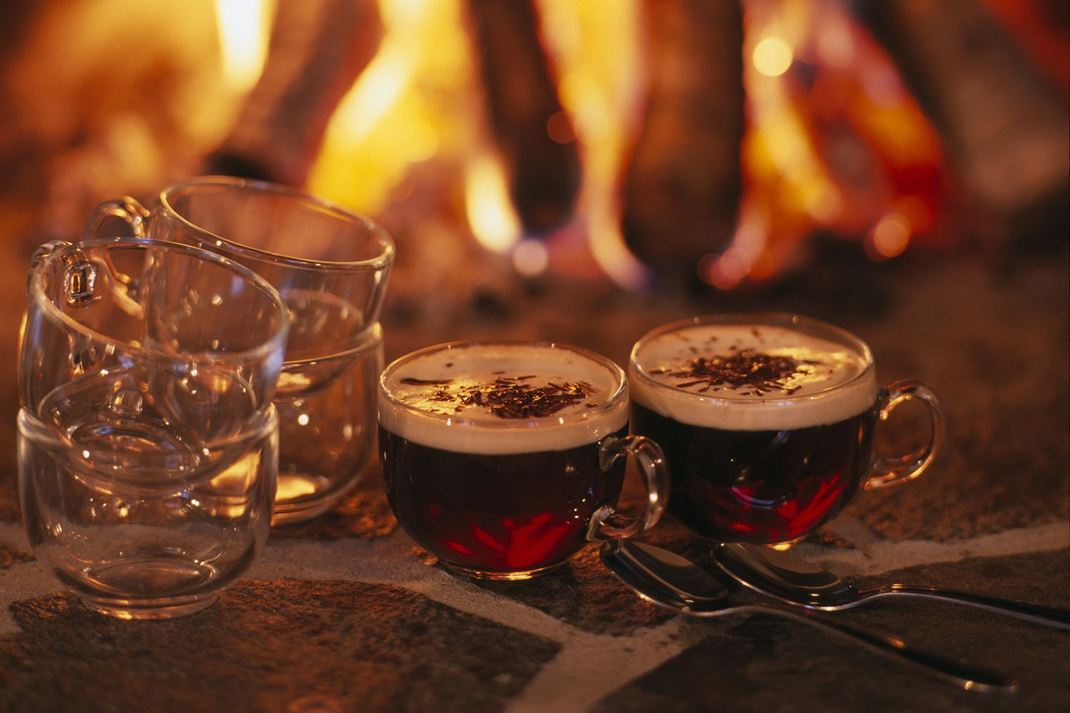 Brandy and sherry in a traditional holiday Wassail.