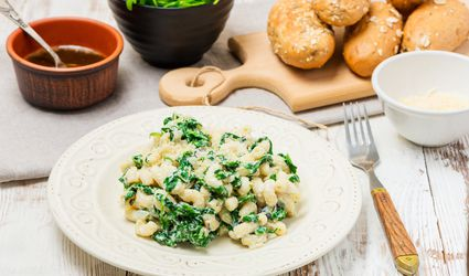 Low-Fat Spinach and Ricotta Pasta