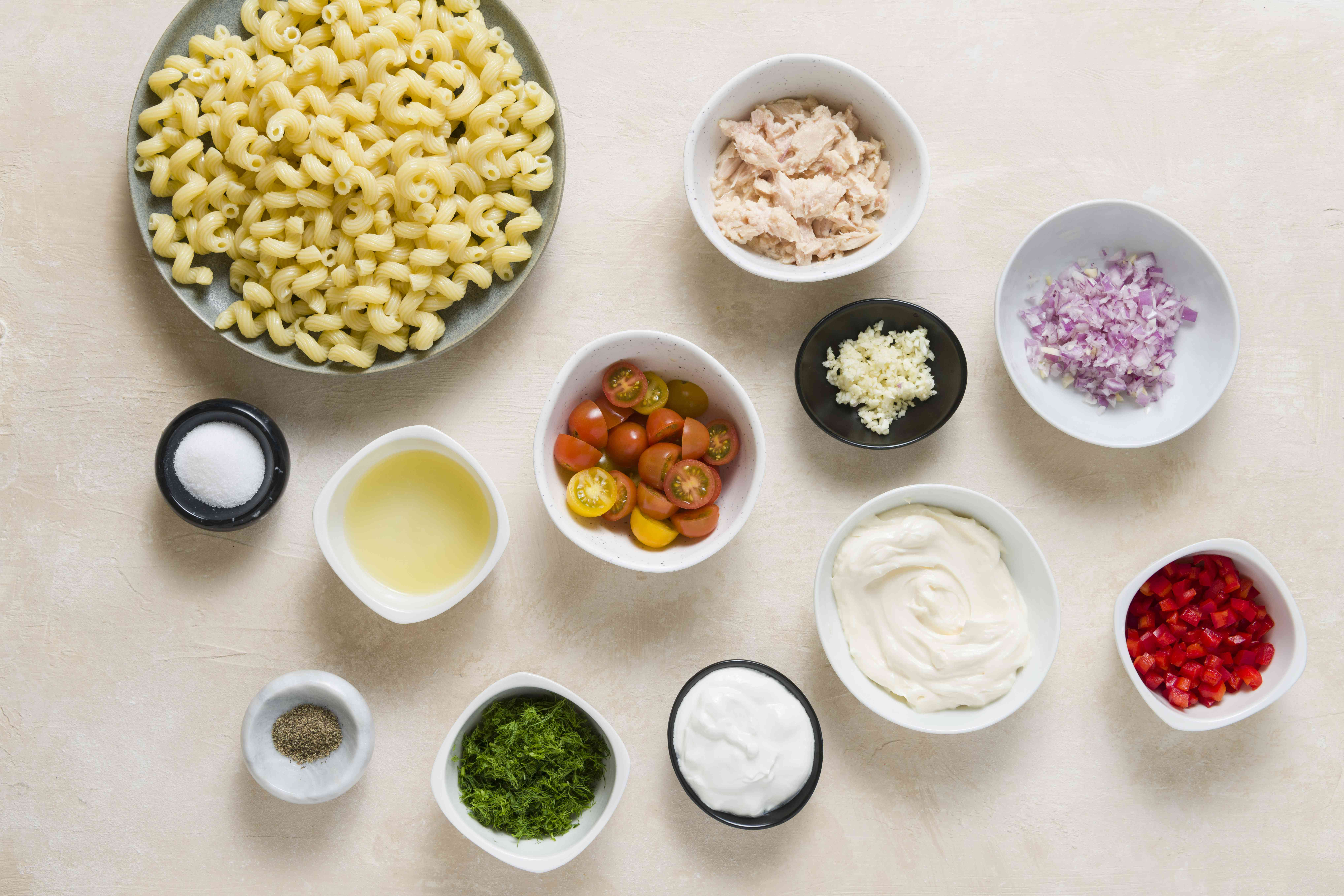 Tuna Pasta Salad With Dill ingredients
