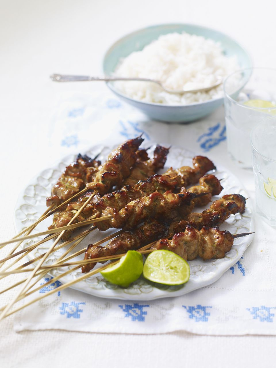 Adobo Pork Kebabs