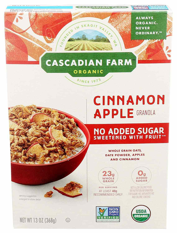 Cascadian Farm No-Sugar-Added Cinnamon Apple Granola