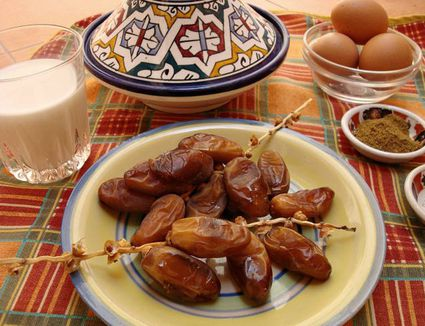 Dates, Milk and Eggs at a Moroccan Iftar
