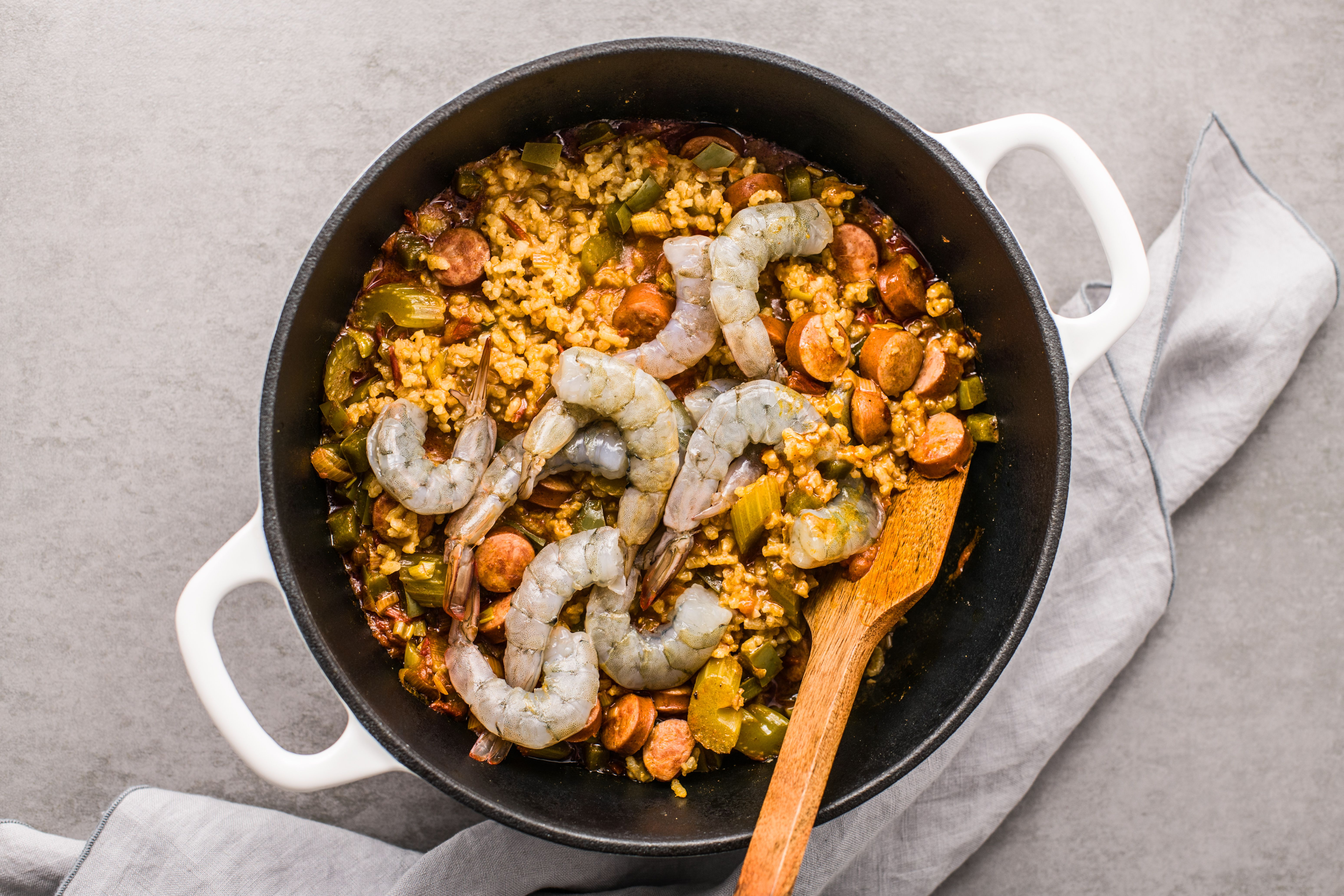 Stir in shrimp