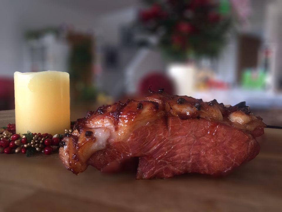 Marmalade glazed boiled ham