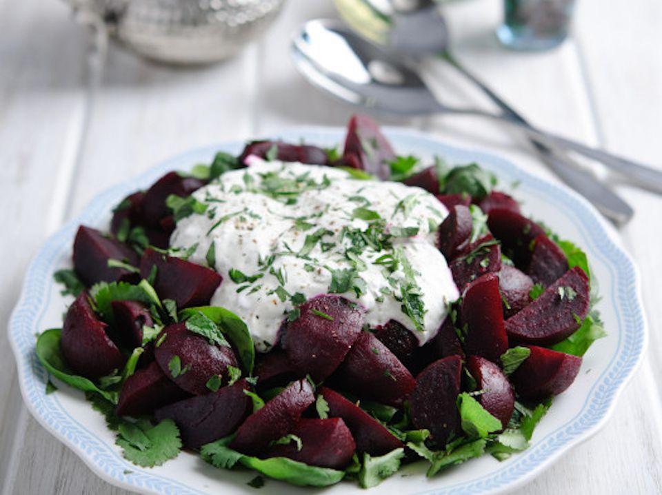 Moroccan Beet Salad With Yogurt Dressing