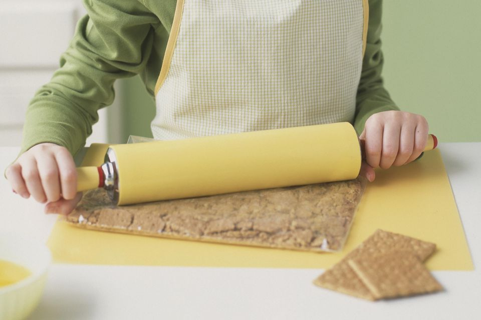 Crushing Graham Crackers With Rolling Pin