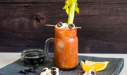 Spooky spicy blood marys recipe