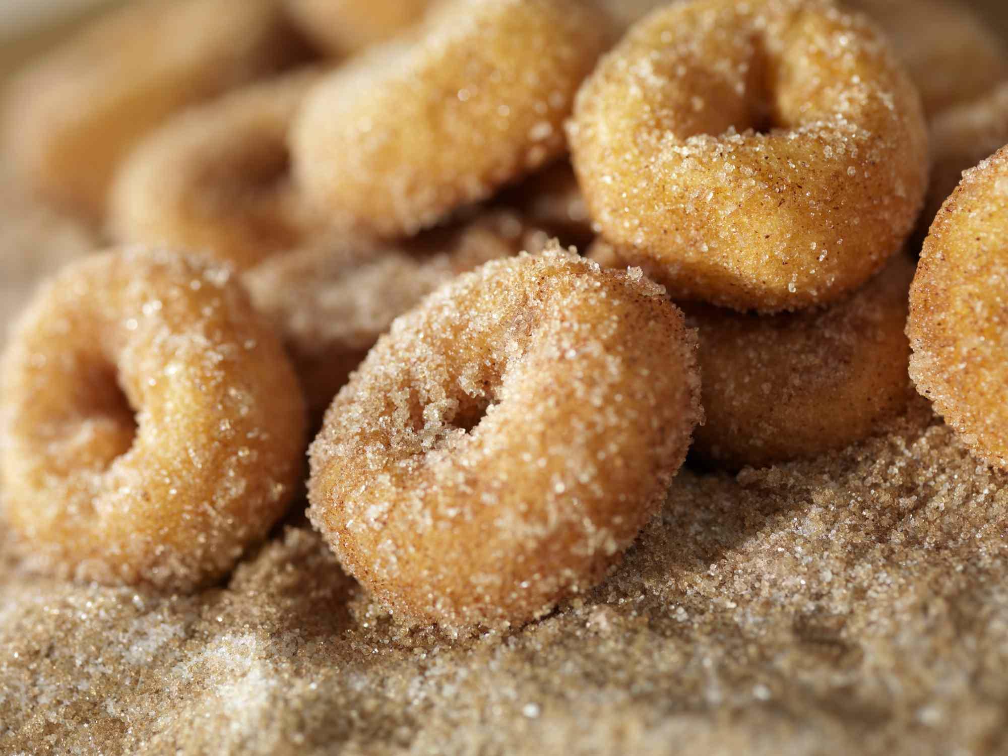 Cinnamon and Sugar Mini Donuts