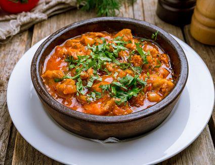 Baharat-spiced beef stew