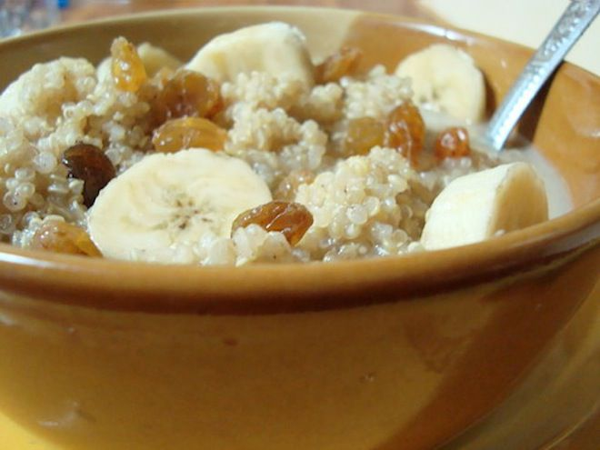 Couscous makes an easy healthy and fat-free breakfast for vegetarians and vegans on the go