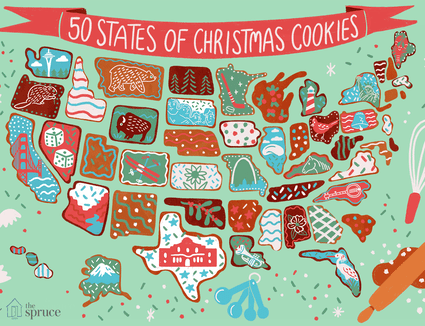 most popular christmas cookies in every state illustration